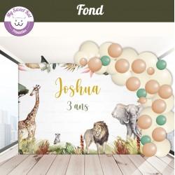 Jungle Safari - fond anniversaire