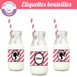 Barbie - Eiquettes bouteilles