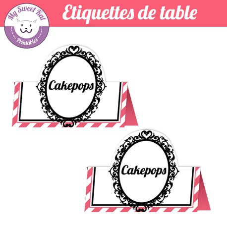 barbie - Etiquettes de table