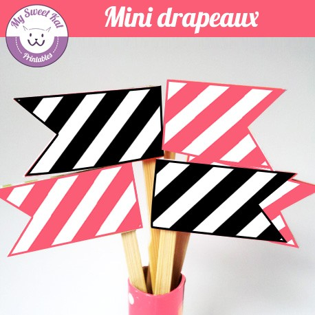 Barbie - mini drapeaux
