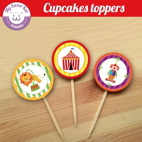 Cirque - Cupcakes toppers