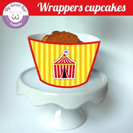 Cirque - Cupcakes wrappers