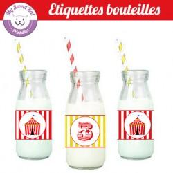 Cirque - Eiquettes bouteilles