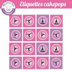 Gymnastique - Etiquettes cakepops