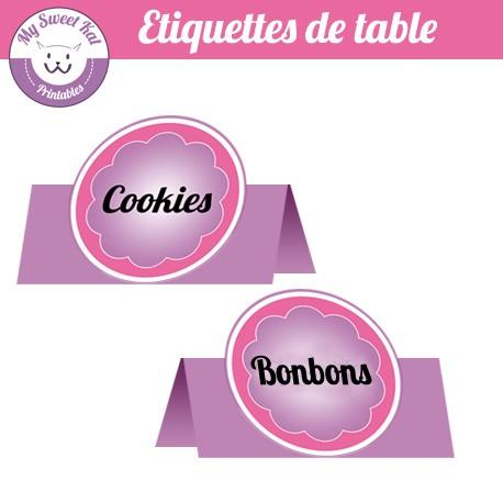 Gymnastique - Etiquettes de table