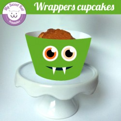 Monstres - Cupcakes wrappers