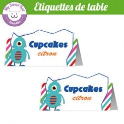 Monstres - Etiquettes de table
