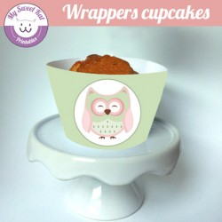 hibou - chouette - Cupcakes wrappers