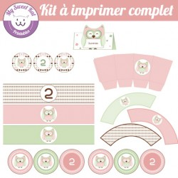 hibou - chouette - Kit complet