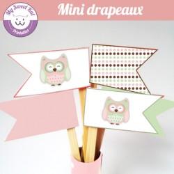 hibou - chouette - mini drapeaux