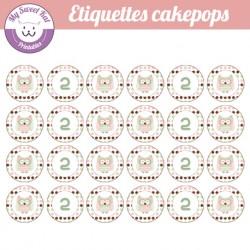 Hibou - chouette - Etiquettes cakepops