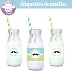 Moustache - Eiquettes bouteilles