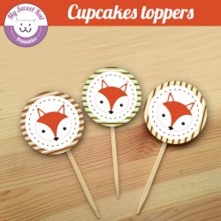 Renard- Cupcakes toppers