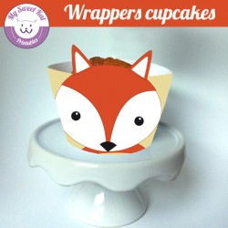 Renard - Cupcakes wrappers