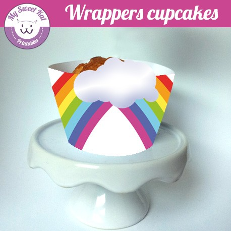 rainbow - Cupcakes wrappers
