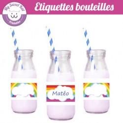 rainbow- Etiquettes bouteilles