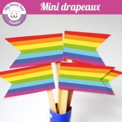 rainbow - mini drapeaux