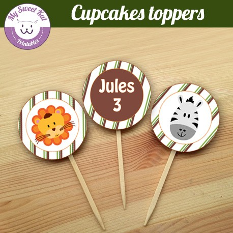 jungle - Cupcakes toppers