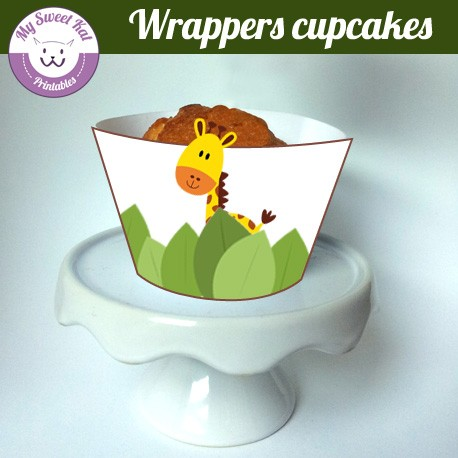 junlge - Cupcakes wrappers