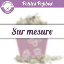 Petite popbox personnalisées