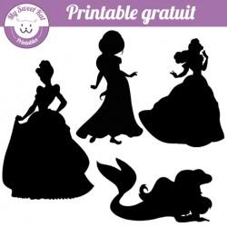 Silhouettes de princesses