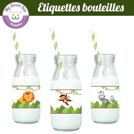 jungle - Etiquettes bouteilles