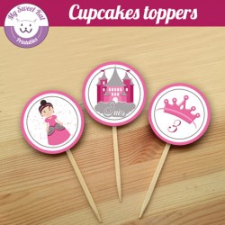 Princesse - Cupcakes toppers