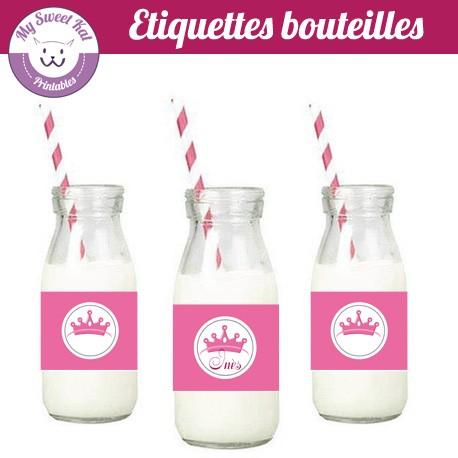 Petite princesse - Etiquettes bouteilles