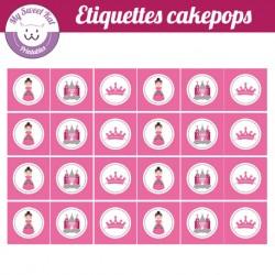 petite princesse - Etiquettes cakepops