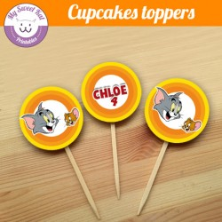 tom et jerry - Cupcakes toppers
