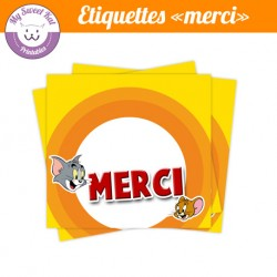 tom et jerry - Etiquettes merci
