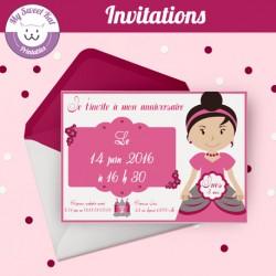 Petite princesse - Invitations