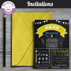 ardoise/chalkboard - Invitations