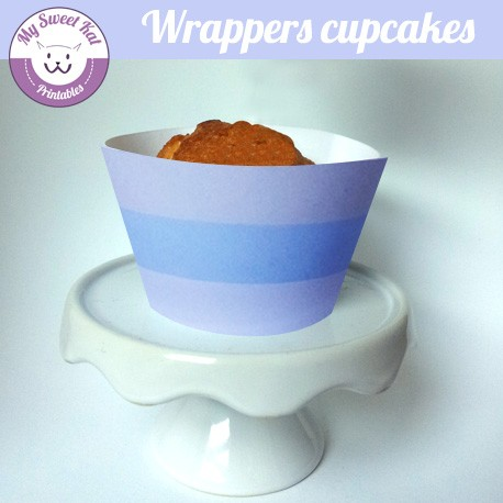 Baby shower 'Bleu' - Cupcakes wrappers