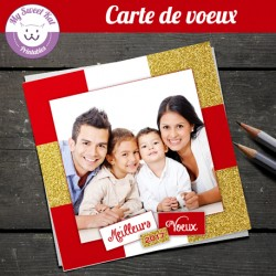 carte-de-voeux-avec-photo-carree-rouge-doree