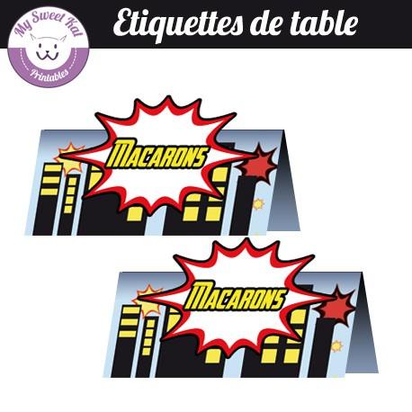 Baby Avengers - Etiquettes de table