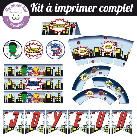 Baby Avengers - Kit complet
