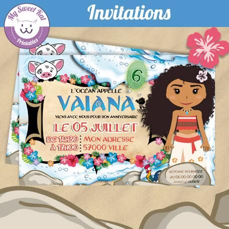 vaiana - Invitations