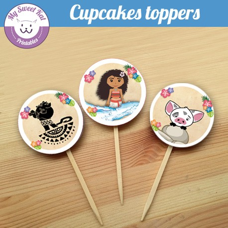 vaiana - Cupcakes toppers