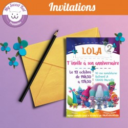 Trolls - Invitations