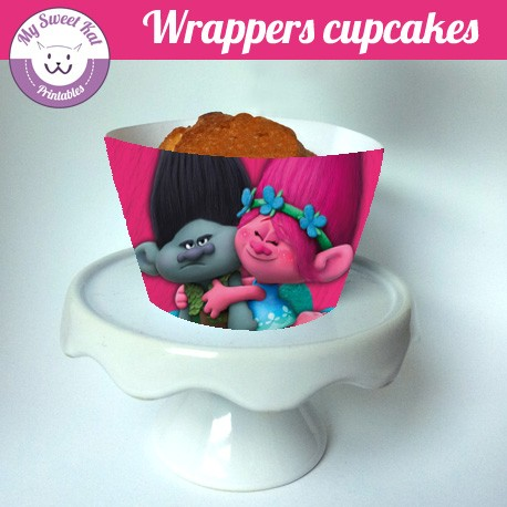 Trolls - Cupcakes wrappers
