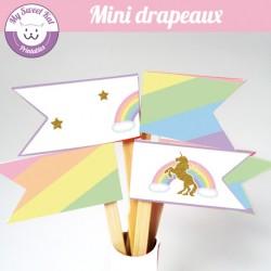 Licorne - mini drapeaux