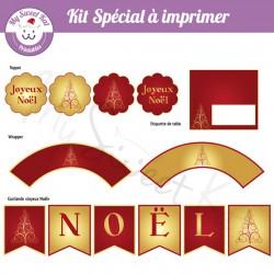 Noël or et rouge - kit spécial