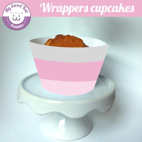 Baby shower 'rose' - Cupcakes wrappers