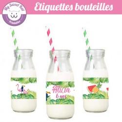 Tropical flamingo - Etiquettes bouteilles
