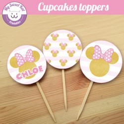 Minnie - Cupcakes toppers