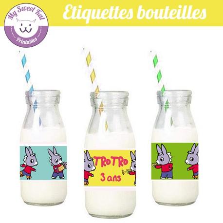 Trotro - Etiquettes bouteilles