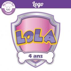 Logo personnalisé 'fille' pat'patrouille