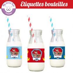 Pat patrouille - Etiquettes bouteilles