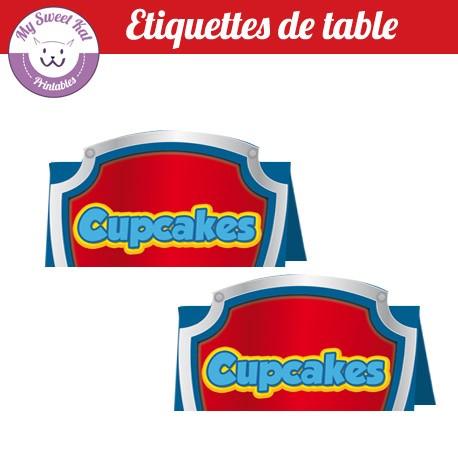 Pat patrouille - Etiquettes de table